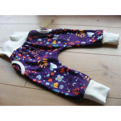 NORKA hordozós és mosipelus kompatibilis nadrág (6-12 hó) lila virágos