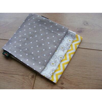 Norka 100% pamut textil zsebkendő nőknek (cikkcakkos)