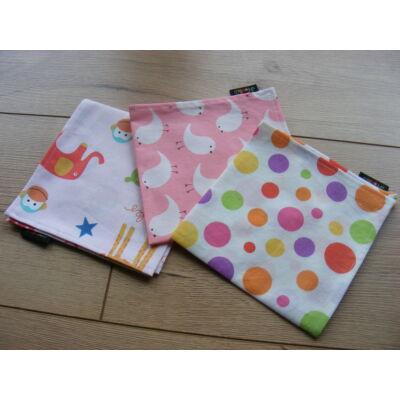 Norka 100% pamut textil zsebkendő gyerekeknek (pöttyös)
