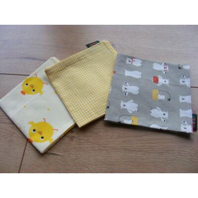 Norka 100% pamut textil zsebkendő gyerekeknek (csibés)
