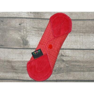 Norka női mosható tisztasági  betét  PUL-al 20 cm-es (piros pöttyös)