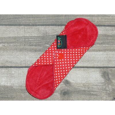 Norka női mosható betét – tisztasági 20 cm-es PUL nélküli (piros pöttyös)