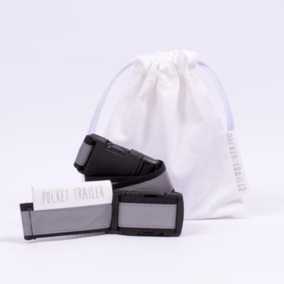 Pocket Trailer fényvisszaverős kismotor/futóbicikli hordozó - fekete