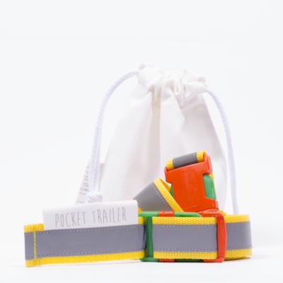 Pocket Trailer fényvisszaverős kismotor/futóbicikli hordozó - sárga
