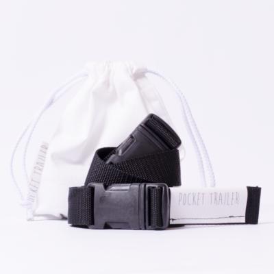 Pocket Trailer kismotor/futóbicikli hordozó - fekete (fényvisszaverő nélkül)
