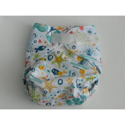 Blümchen újszülött mosható pelenka külső kb. 3-7 kg (hableányos tépős)