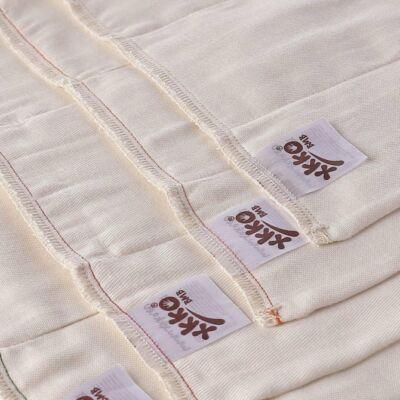 Kikko/Xkko bambusz prefold pelenka több méretben (fehérítetlen) -S