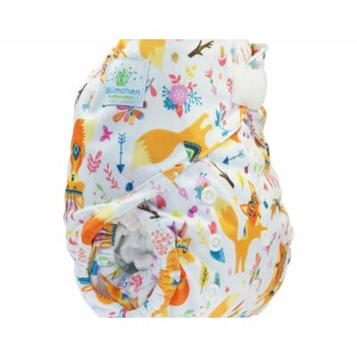 Blümchen újszülött mosható pelenka külső kb. 3-7 kg (rókás tépős)