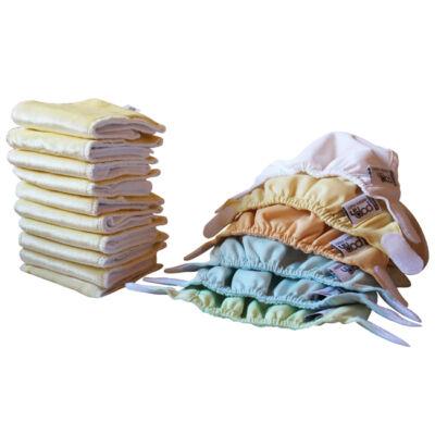 Pop-in újszülött mosható pelenka csomag (6 külső+10 bambusz betét)