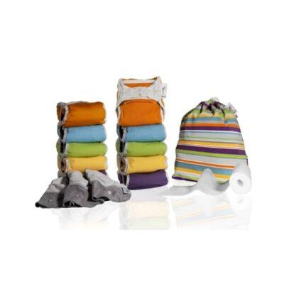 Pop-in new generation V2 minkee AIO mosható pelenka csomag (pasztell 20 db)