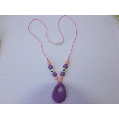 Szilikon egyedi kézműves mama lánc (lila-rózsaszín)