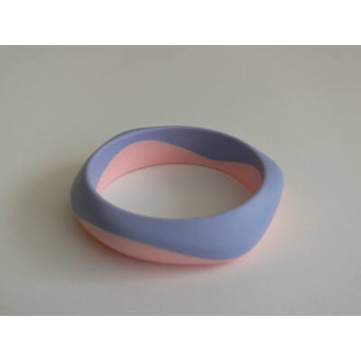 Szilikon egyedi kézműves mama karkötő (lila/rózsaszín)