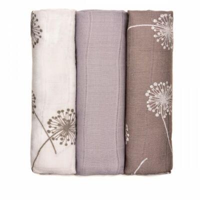 Bambusz/BIO pamut tetra pelenka, textilpelenka 3 darabos csomag (pitypangos)