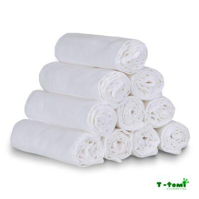 100% pamut EXTRA minőségű tetra pelenka, textilpelenka 1 darab (fehér)
