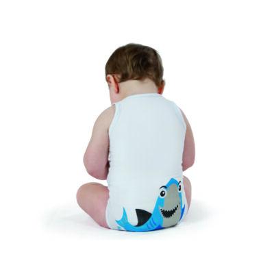 JBIMBI ujjatlan, egyméretes gyermek body - cápa