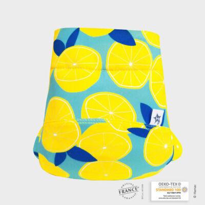 Hamac limitált hibrid/csónakos mosható pelenka (citromok) L-es 11-18 kg