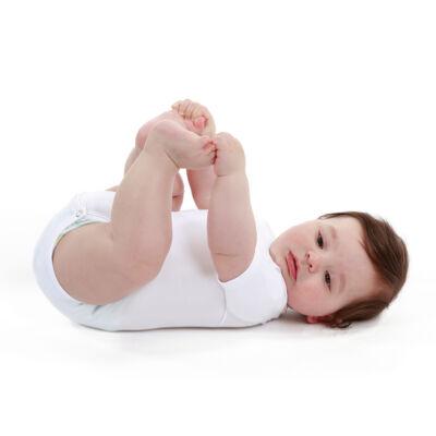 JBIMBI négy évszakos, egyméretes gyermek body - egyszínű fehér