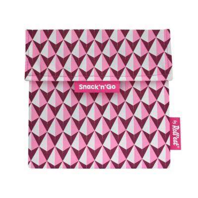 Snack'n'Go biopamut ételtároló - díszcsempe rózsaszín