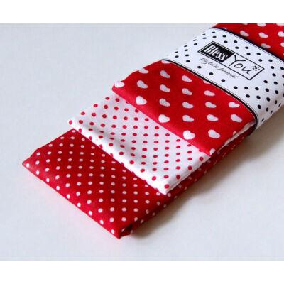 BlessYou 100% pamut textil zsebkendő gyerekeknek (pöttyök és szívek)