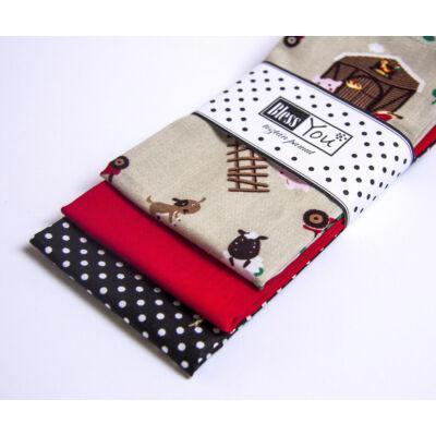 BlessYou 100% pamut textil zsebkendő gyerekeknek (farmos)