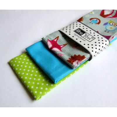 BlessYou 100% pamut textil zsebkendő gyerekeknek (erdei állatok )