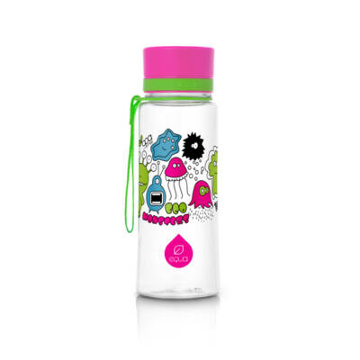 Equa kulacs - rózsaszín szörnyecskés 400 ml