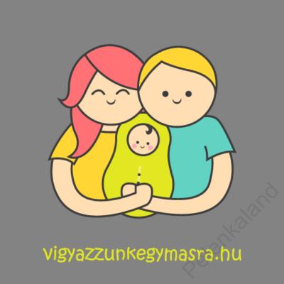 Autómágnes - család 1 gyerekkel szürke (kicsi)