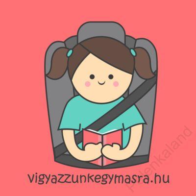 Autómágnes - olvasó kislány